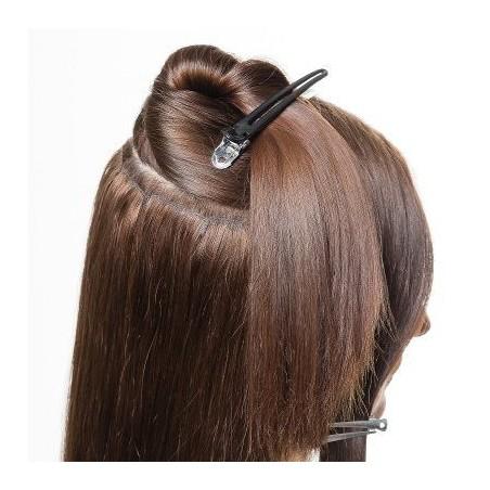 Peluca cabello sintético largo Negro